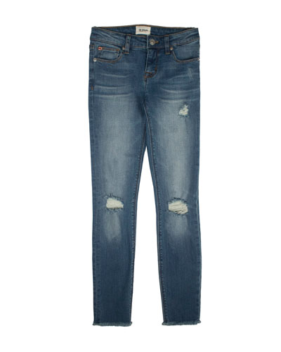 Girls' Christa Distressed Release-Hem Skinny Jeans, Size 7-16
