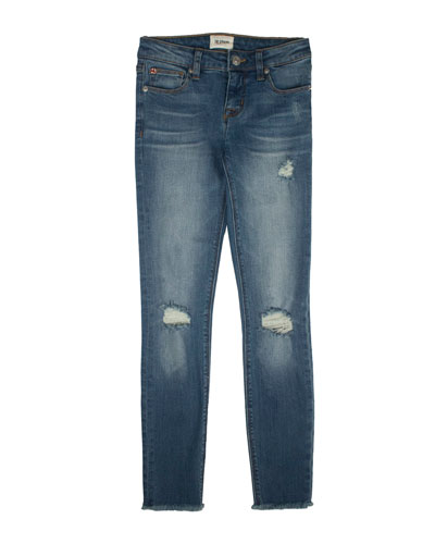 Girls' Christa Distressed Release-Hem Skinny Jeans, Size 4-6X
