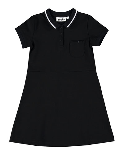 Coral Contemporary Tennis-Style Dress, Size 7-16