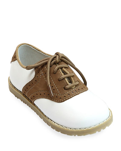 Luke Two-Tone Leather Saddle Shoes, Baby/Toddler/Kids