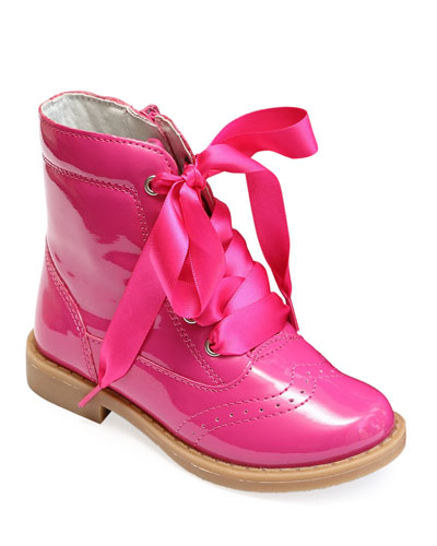 Stella Patent Leather Mid-Top Boot, Baby/Toddler/Kids
