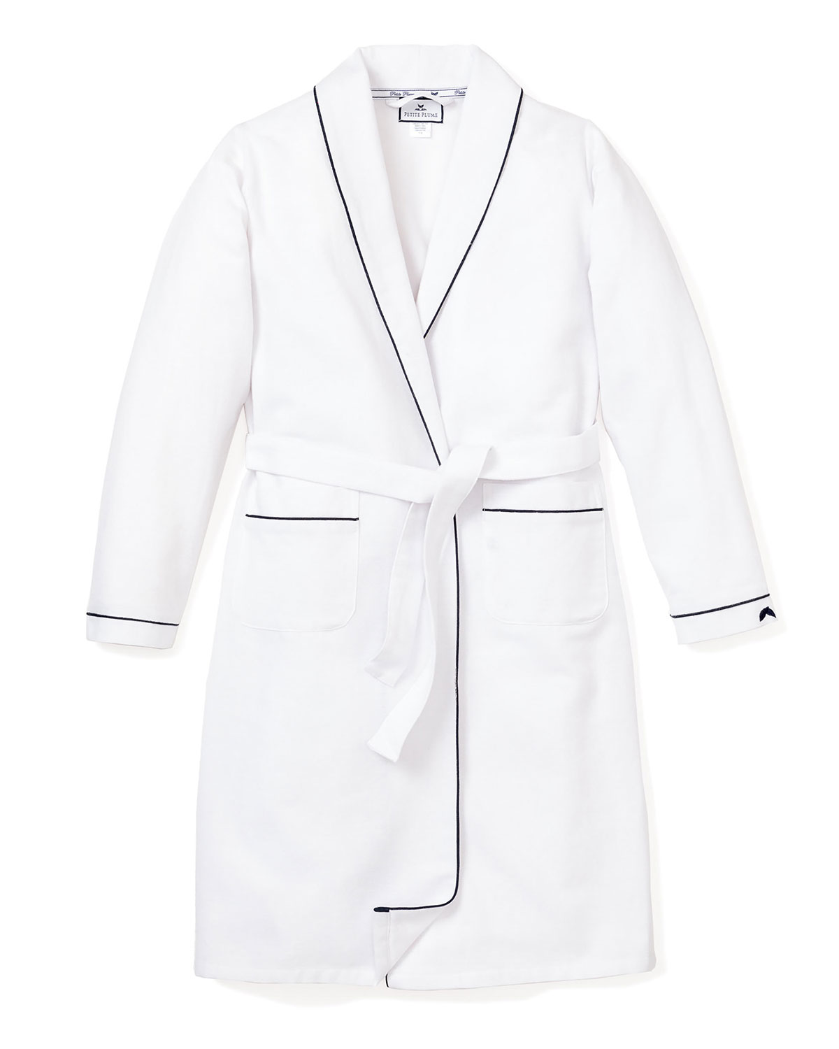 Petite Plume SOLID ROBE W/ CONTRAST PIPING