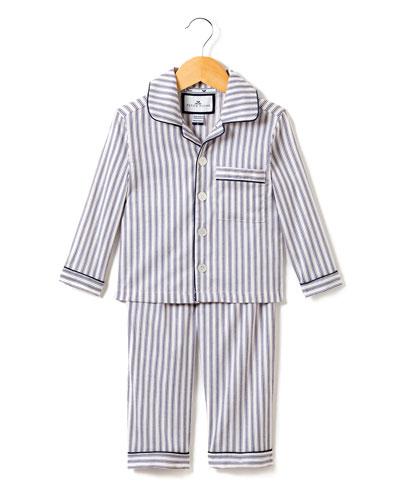 French Ticking Pajama Set, Size 2-10