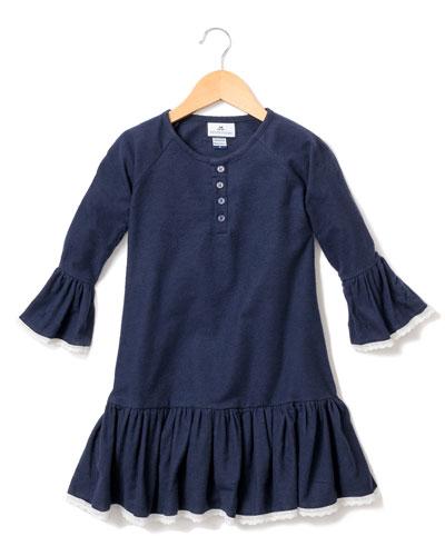 Arabella Lace-Trim Nightgown, Size 6M-14