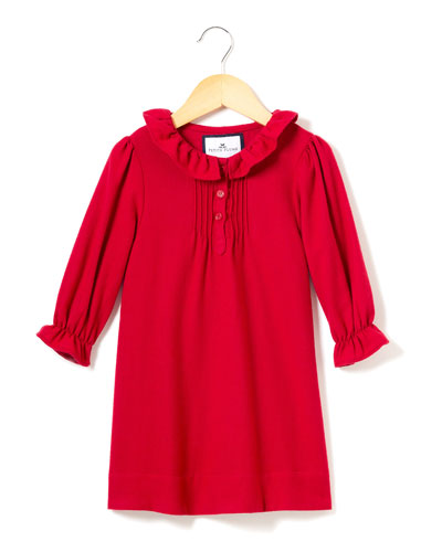 Victoria Flannel Pintucked Nightgown, Size 6M-14
