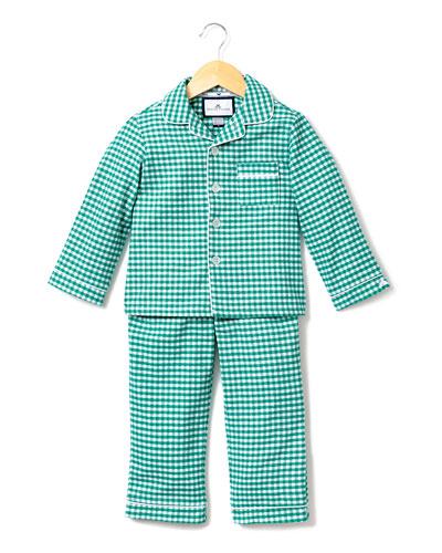 Gingham Flannel Pajama Set, Size 2-10