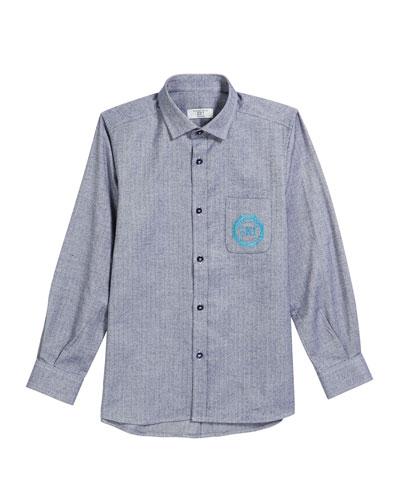 Boys' Long-Sleeve Ski Shirt, Size 9-14