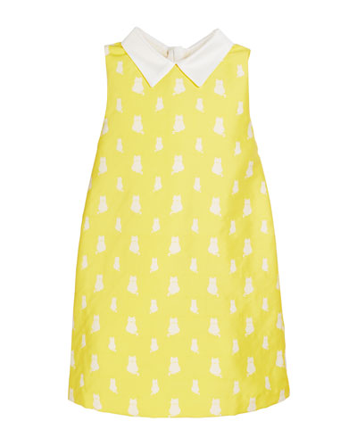 Lola Kitten Print Sleeveless Dress, Size 4-8