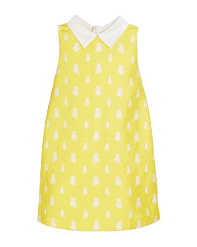 Lola Kitten Print Sleeveless Dress, Size 10-12