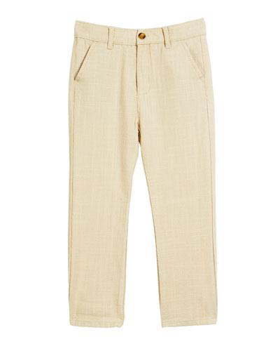 Linen-Blend Beach Pants, Size 2-14
