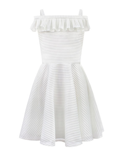 428014693de48 Stripe Techno Off-the-Shoulder Dress, Size 8-16 Quick Look. David Charles