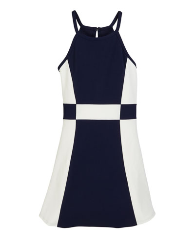69bdc4335c9 The Peggy Colorblock Halter Dress