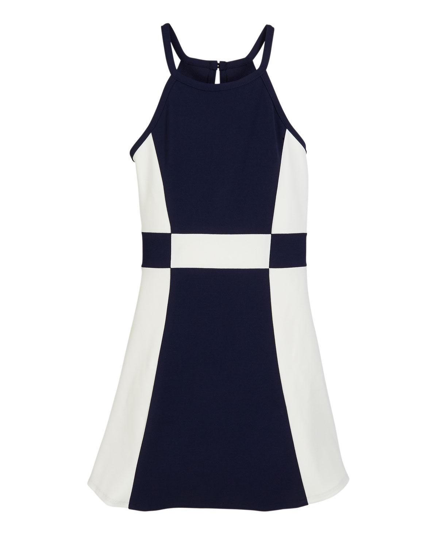 Sally Miller Dresses THE PEGGY COLORBLOCK HALTER DRESS