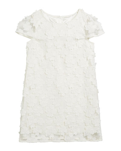 Chloe 3D Floral Applique Dress, Size 2T-6