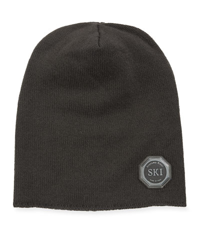 Boys' Ribbed Cashmere Beanie Hat