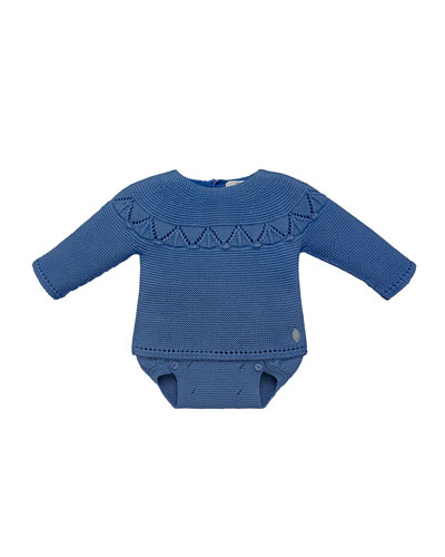 Fair Isle Knit Sweater w/ Diaper Cover, Size 3-12 Months