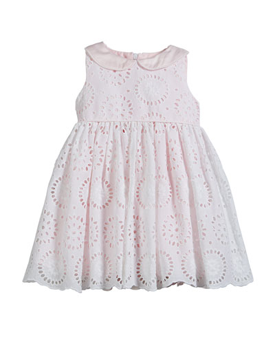 Eyelet Embroidered Dress, Size 4-6X