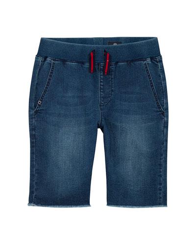 Boys' The Brex Denim Bermuda Shorts w/ Knit Waistband, Size S-L