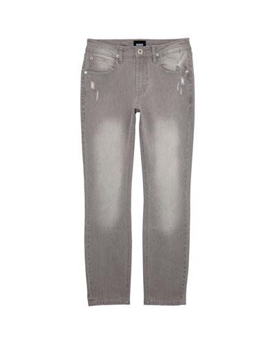 Boys' Jagger Slim Stress Faded & Distressed Pants, Size 8-14
