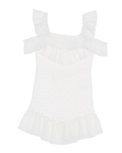 Sophie Lace Cold-Shoulder Dress, Size 8-16