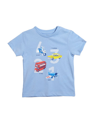Short-Sleeve Transportation Graphic T-Shirt, Size 12-36 Months