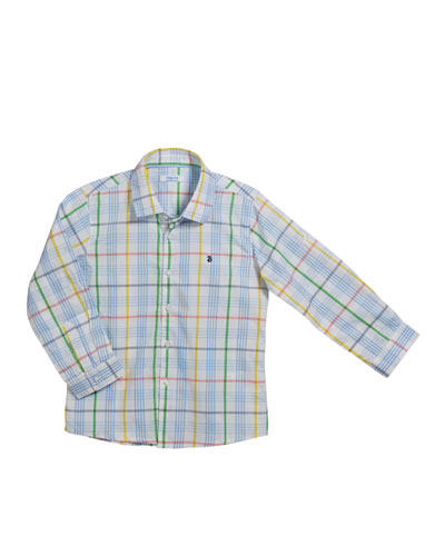 Long-Sleeve Checked Shirt, Size 12-36 Months