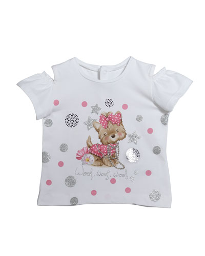 Short-Sleeve Puppy Graphic T-Shirt, Size 12-36 Months