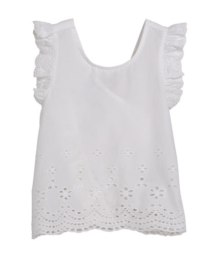 Embroidered Top w/ Flyaway Back, Size 12-36 Months