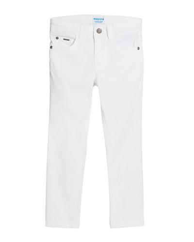 Basic Slim Fit Serge Pants, Size 4-7