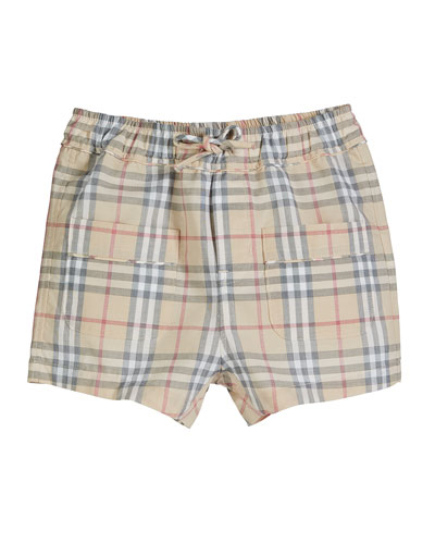 Conroy Washed Check Shorts, Size 3-18 Months