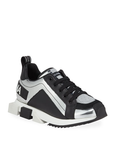 Metallic Leather Sneakers, Toddler/Kids