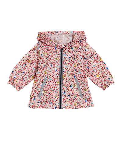 Floral Hooded Coat, Size 3-36 Months