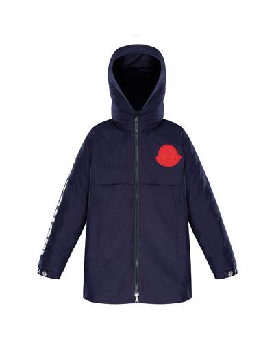 Hooded Logo Coat, Size 8-14