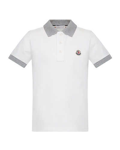Contrast Trim Short-Sleeve Polo Shirt, Size 8-14