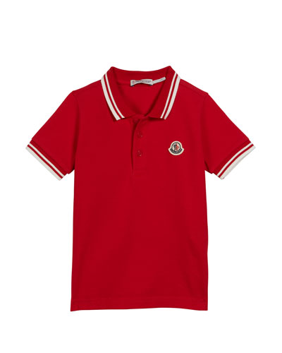 Polo Shirt w/ Striped Tipping, Size 8-14