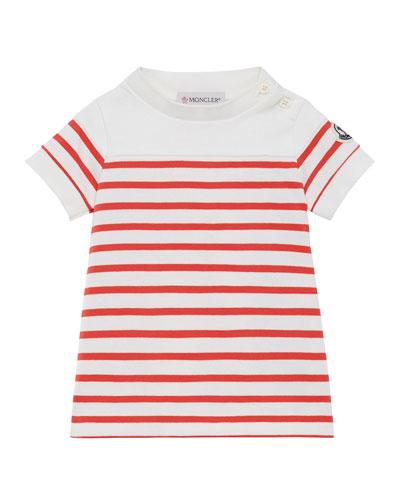 Striped Short-Sleeve Dress, Size 12M-3