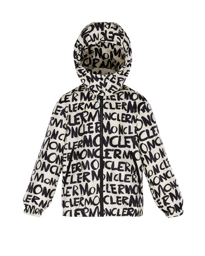 6787fb69 Logo Printed Nylon Hooded Jacket, Size 8-14 Quick Look. Moncler