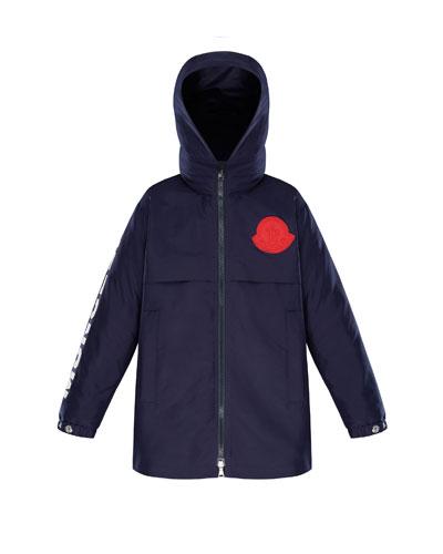 Hooded Logo Coat, Size 4-6