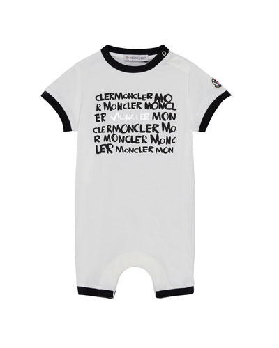 Moncler Logo Graphic Shortall, Size 1-9 Months