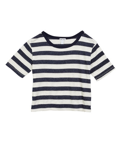 Textured Jersey Stripe Top, Size 7-14