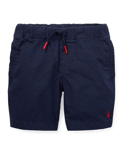 Cotton Drawstring Shorts, Size 5-7