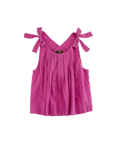 Imani Pinafore Pleated Top, Size 4-6