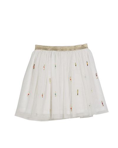 Jemima Metallic Ribbon Tulle Skirt, Size 8-12