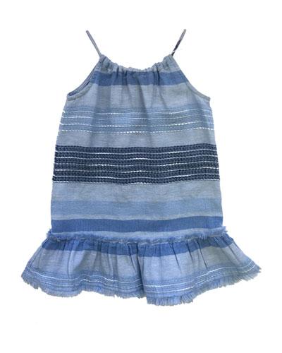 Frayed Edge Halter Sun Dress, Size 8-14