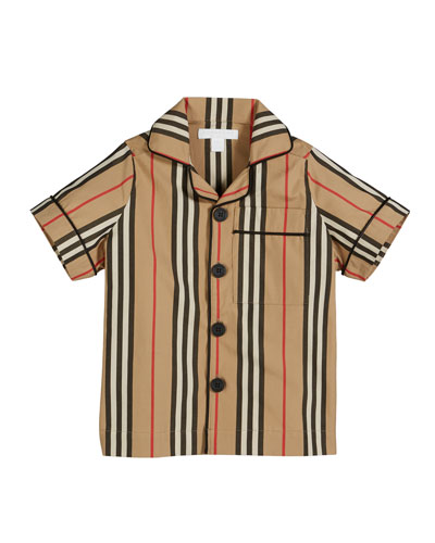 Andres Icon Stripe Short-Sleeve Top, Size 3-14