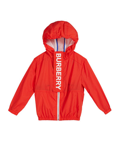 Austin Hooded Logo Windbreaker, Size 3-14
