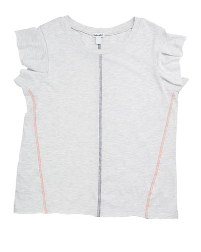 Contrast Stitching Jersey Top, Size 7-14