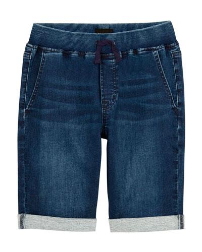Boys' Taj Drawstring Denim Shorts, Size 4-7