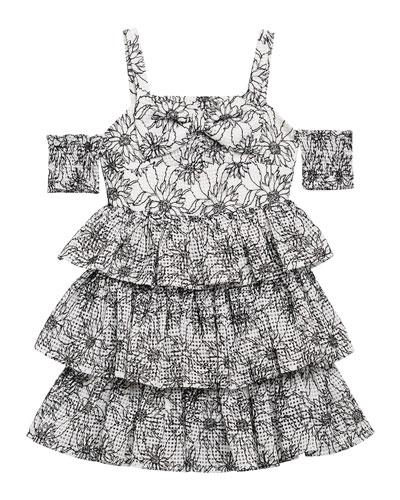 Ellis Floral Cold-Shoulder Dress, Size 8-16