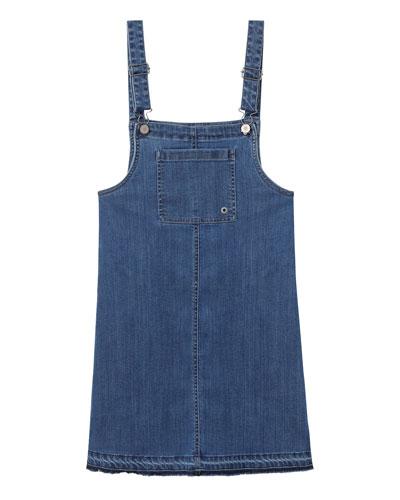 Girls' Penelope Overall Denim Dress, Size S-L
